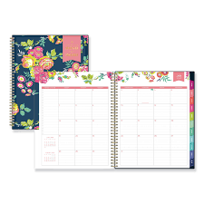Day Designer Academic 2019 Day Designer Academic Year Cyo Weekly Monthly Planner 11 X 8 1 2 Navy Floral 2019 2020