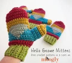 Free Crochet Mitten Patterns Adorable Hello Gnome Mittens Free Crochet Pattern On Moogly
