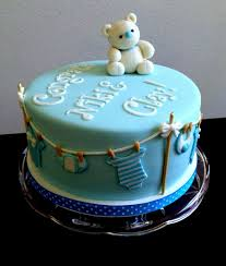 Collection Simple Boy Baby Shower Cakes Be Equipped 1st Birthday