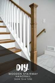 Staircase Hand Drill Design How To Install A Wooden Handrail On Split Level Stairs