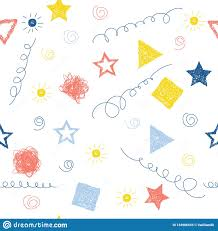 Handmade Wallpaper Design Abstract Handmade Seamless Pattern Background Childish