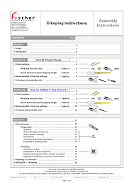 Crimping Instructions Assembly Instructions