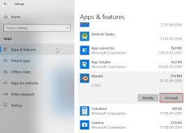 How To Uninstall An Application On Windows 10