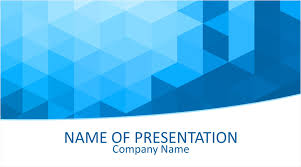 Powerpoint Backgrounds Blue Blue Geometric Powerpoint Template Templateswise Com