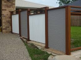 image of metal fence panels designs