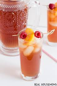 this sweet and fruity raspberry peach iced tea is sure to be a summer staple