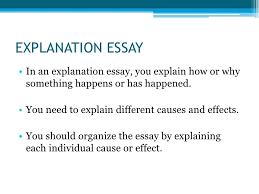 types of essays explanation essay<br