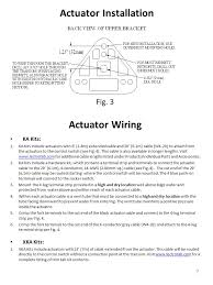 operation and installation manual electromechanical trim tab actuator wiring ka kits 1 ka kits include actuators 6 1 8
