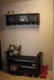 Decorating black shoe cabinet with doors pictures : Project Caitlin's Life Blog: DIY entryway bench and shoe rack ...