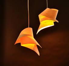 Tie Veneer Lampshade by Vayehi on Etsy