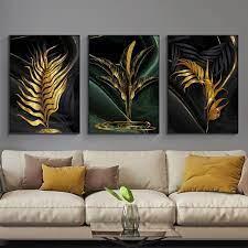 prints gold wall art canvas print
