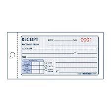 Rediform Money Receipt Book Carbonless 2 75 X 5 625 Inches 50 Duplicate 8l820