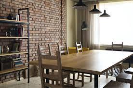 brick wall interior dining table and brick feature wall painting interior brick wall ideas brick wall interior