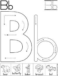 Letter B Worksheets for Preschool Kindergarten Printable