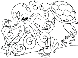 Marine Life Coloring Pages Ocean Life Coloring Pages Printable Free