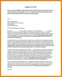 9 Examples Of Financial Aid Appeal Letter Emt Resume