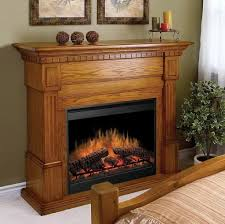 smart dimplex electric fireplace with amazing wooden mantle