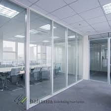 Demountable Office Partition Windows Low Partitions Steel Frameless