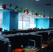christmas office decor. Attractive Colorful Christmas Decoration Idea Office Decor O