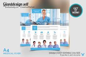 Medical Brochure Template A24 Medical Flyer Template Flyer Templates Creative Market 1