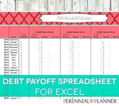 Credit Card Tracker Excel Debt Worksheet Snowball Excel Spreadsheet Printable