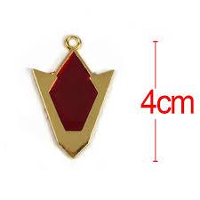 game the legend of zelda red kokiri spiritual stone metal alloy pendant 100pcs set