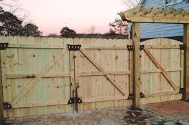 wood fence gate. Double Gate + Walk Wood Fence