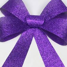 DIY Christmas Tree Bow Topper  The Denver HousewifePurple Christmas Tree Bows