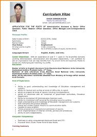 Format Resume Sample Resume Format Sample Cv Format Cv Resume Application Letter Nice 56