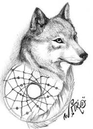 Small Picture Animal Coloring Pages Dream Catchers Dream catcher Wolf 01