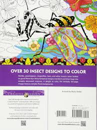 amazon creative haven incredible insect designs coloring book coloring 9780486494999 marty le creative haven books