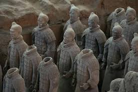 terracotta army china editorial image of warrior statues melbourne xi may lines clay ancient warriors