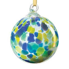 Hand Blown Glass Ornament - Spring Shower