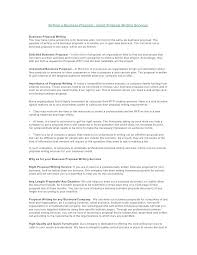 Business Service Offer Letter Sample Writing A Proposal Offering