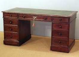 antique gany pedestal desk