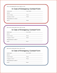 Emergency Contact Form Template Proposalsheet Com