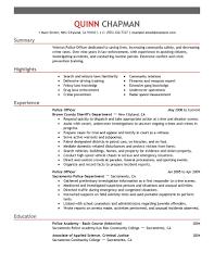 create my resume law enforcement resume examples