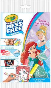 Free printable disney princess coloring pages. Amazon Com Crayola Color Wonder Disney Princess Coloring Pages Mess Free Coloring For Kids Age 3 4 5 6 Arts Crafts Sewing