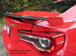 subaru brz red with spoiler. Contemporary Spoiler Closeup Of The Rear Spoiler 2017 Subaru BRZ Limited Pure Red Color For Brz With Spoiler