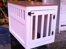 ana white large wooden dog crate end table diy projects intended for wooden dog crate furniture