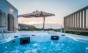 Outdoor Jacuzzi Suite Private Jacuzzi Sea View Milia Gi Milos