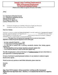 Employment Verification Letter For Immigration Mla Format