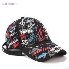 <b>MAERSHEI</b> Unisex Cotton Dad hat Baseball Cap Custom Graffiti ...