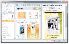 microsoft office catalog templates create brochure in word 2007 or 2010 make brochure microsoft word