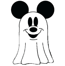 Halloween Ghost Coloring Pages Mickey Mouse For Kids Sheets