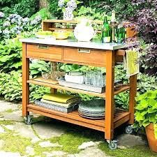 patio serving cart bar