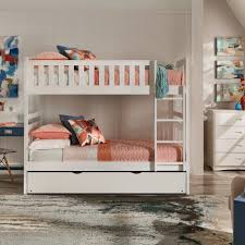 Hunter Twin over Twin White Wood Bunk Bed by iNSPIRE Q Junior - Free  Shipping Today - Overstock.com - 25561319