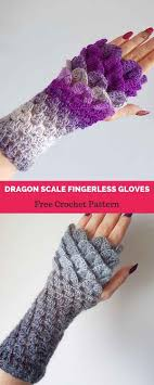Dragon Scale Fingerless Gloves Pattern Free Interesting Decoration