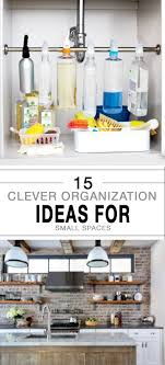 Organization Ideas For Small Apartments 15 clever organization ideas for small spaces 8666 by uwakikaiketsu.us
