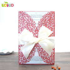 Red Wedding Card Design Us 39 0 High Class Traditional Chinese Red Wedding Invitation Card Floral Personalize Invitation Card Design In Cards Invitations From Home
